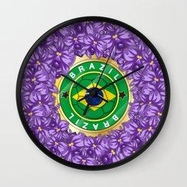 Football Brazil Wall Clock