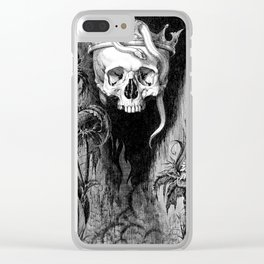 Skull Crowned Clear iPhone Case