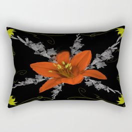 Lily and Gladiolas abstract Rectangular Pillow