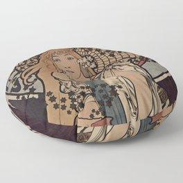 LA SAMARITAINE Alphonse Mucha 1897 Floor Pillow
