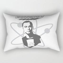 sheldon cooper and bart simpson: big bang theory art 2 Rectangular Pillow