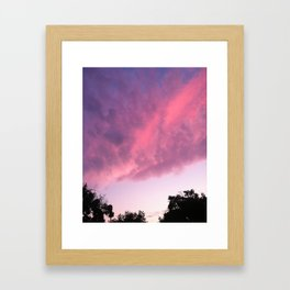 Color Bomb Sunset Framed Art Print