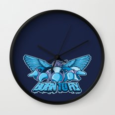 BORN TO FLY Wall Clock