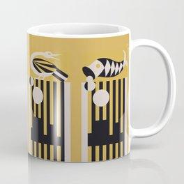 Art Deco Bird & Fish - Hemingway Coffee Mug