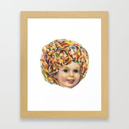 Lollipop Glump (Shirley Temple Portrait) Framed Art Print