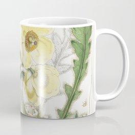 Satin Nepal Poppy Plant Vintage Illustration Coffee Mug