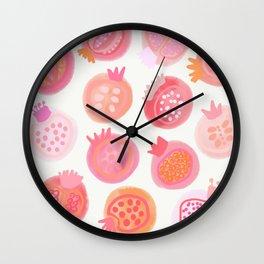 Pink Fruit Wall Clock