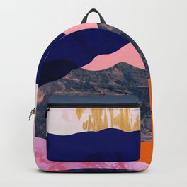 Graphic volcanic mountains Backpack