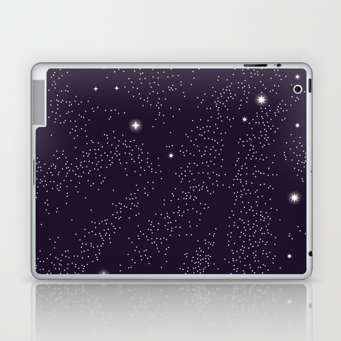 Universe with planets and stars seamless pattern, cosmos starry night sky 005 Laptop & iPad Skin