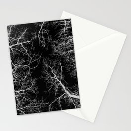 Black and white tree photography - Watercolor series #10 Stationery Cards