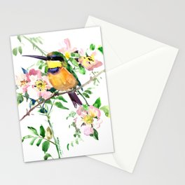 Bee-Eater and Rosehip Stationery Cards