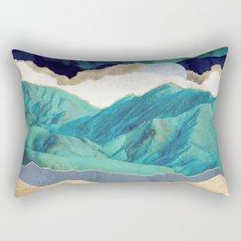 Teal Mountains Rectangular Pillow