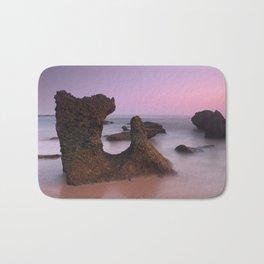 Roche Reefs. Cadiz. At pink Sunset. Spain Bath Mat