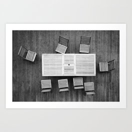 Table & chairs composition Art Print