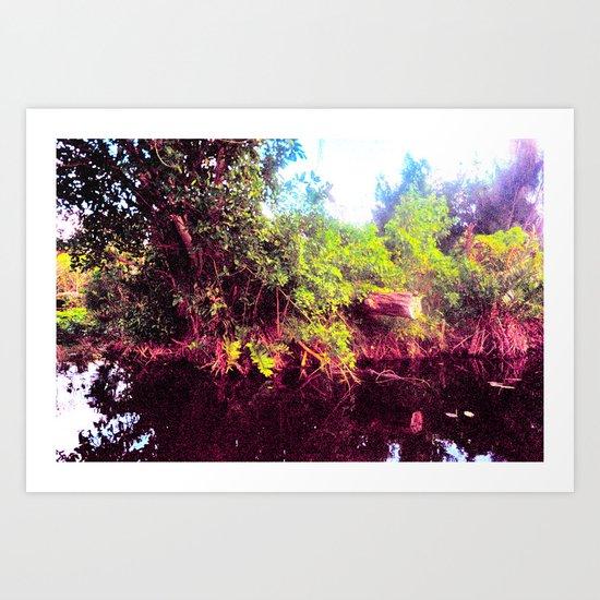 Woodland Isle Art Print