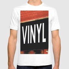 Vinyl MEDIUM White Mens Fitted Tee