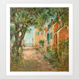 Classical Masterpiece 'Provincetown, Cape Cod' by Frederick Childe Hassam Art Print