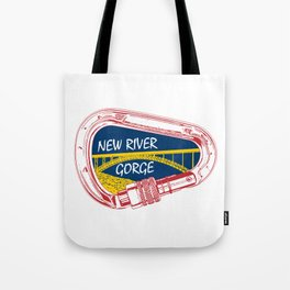 New River Gorge Climbing Carabiner Tote Bag