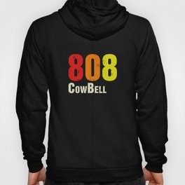 808 CowBell Drum Machine Retro Vintage Hoody