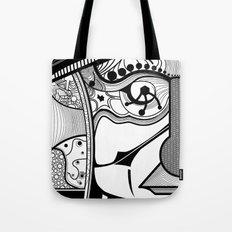 Tribal design face - 1 Tote Bag