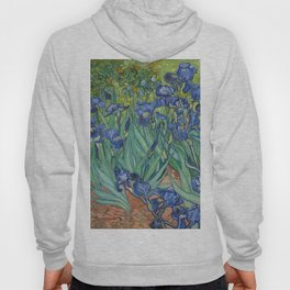 Irises by Vincent van Gogh Hoody