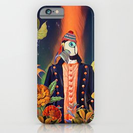 Floral Puffin iPhone Case