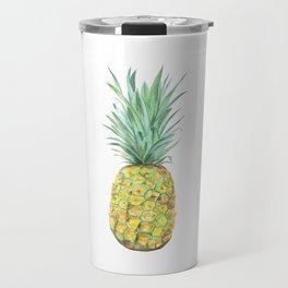 pineapple watercolor painting Travel Mug
