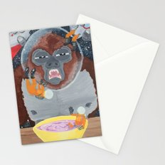 Gorilla in Space Stationery Cards