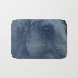 Abstract Horse No. 2 | Blue Bath Mat