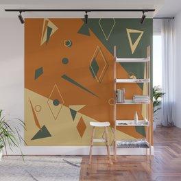 Geometrical style print illustration Wall Mural