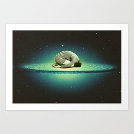 Balasana space Art Print