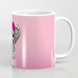Pink Day of the Dead Sugar Skull Baby Elephant Coffee Mug
