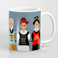 literature Mugs featuring Victorian Literature - George Eliot by Natallia Pavaliayeva