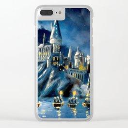 Moonlit Magic Clear iPhone Case