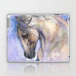 Horse on purple background Laptop & iPad Skin