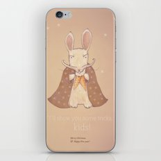 Christmas creatures- Bunny The Magician iPhone & iPod Skin
