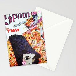 retro Spain retro poster Stationery Cards