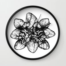 Bound: Hearts Wall Clock