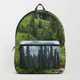 Mount Rainier Adventure IV - Pacific Northwest Mountain Forest Wanderlust Backpack