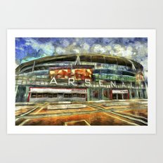 Arsenal FC Emirates Stadium Art Art Print