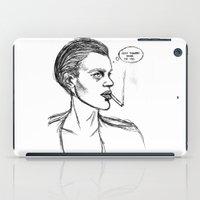 brad pitt iPad Cases featuring MICHAEL PITT. by DoeFeet
