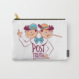 Cartoon illustration of Post-truth politics. Carry-All Pouch