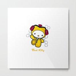 Hello Bad Kitty Metal Print