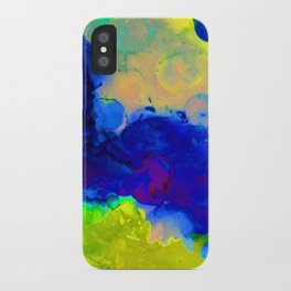 Expression in Blue iPhone Case