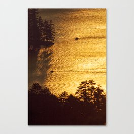 Golden Waters on Newfound Lake Canvas Print
