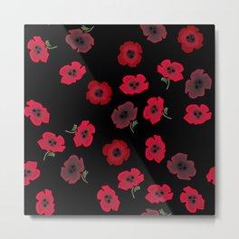 Eternal Poppies Metal Print