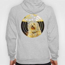 hairy havanese dog vector art gold yellow Hoody