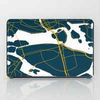 sweden iPad Cases featuring Stockholm Sweden Map by Studio Tesouro