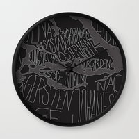 stockholm Wall Clocks featuring Stockholm by Malin Erixon