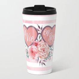La Vie en Rose (Rose Colored Glasses) #society6 Travel Mug